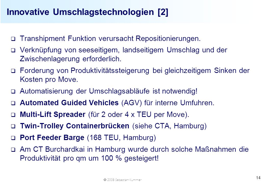 Innovative Umschlagstechnologien [2]